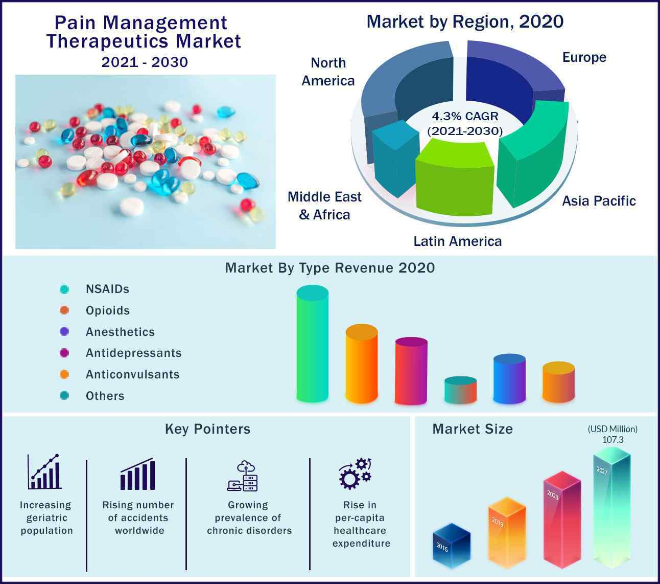 Global Pain Management Therapeutics Market 2021-2030